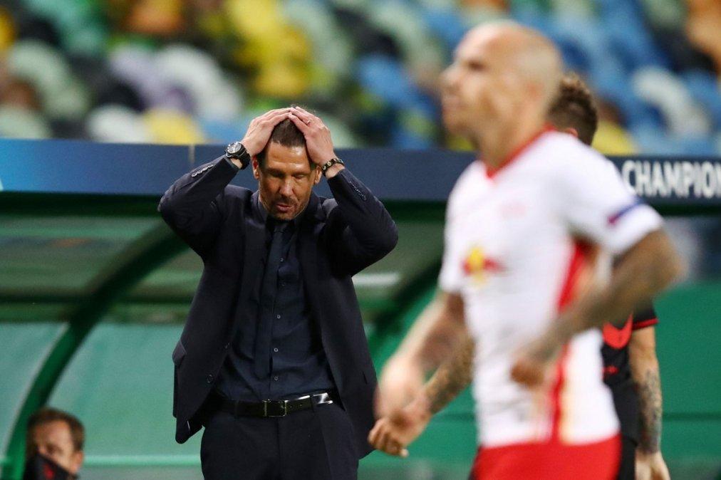 Triunfo agónico del Leipzig que eliminó al Atlético de Madrid