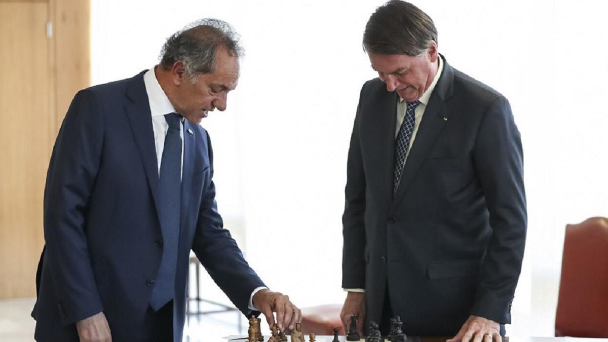 Daniel Scioli junto a Jair Bolsonaro.