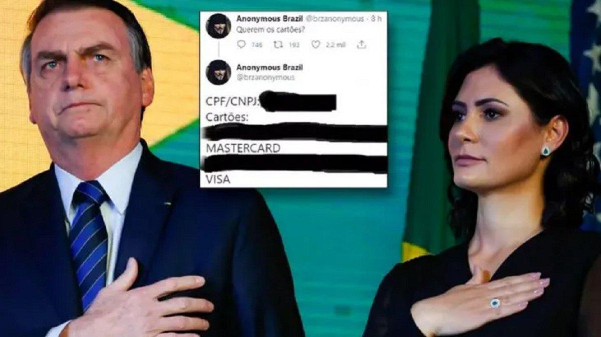 Anonymus divuldó información de la primera dama de Brasil.