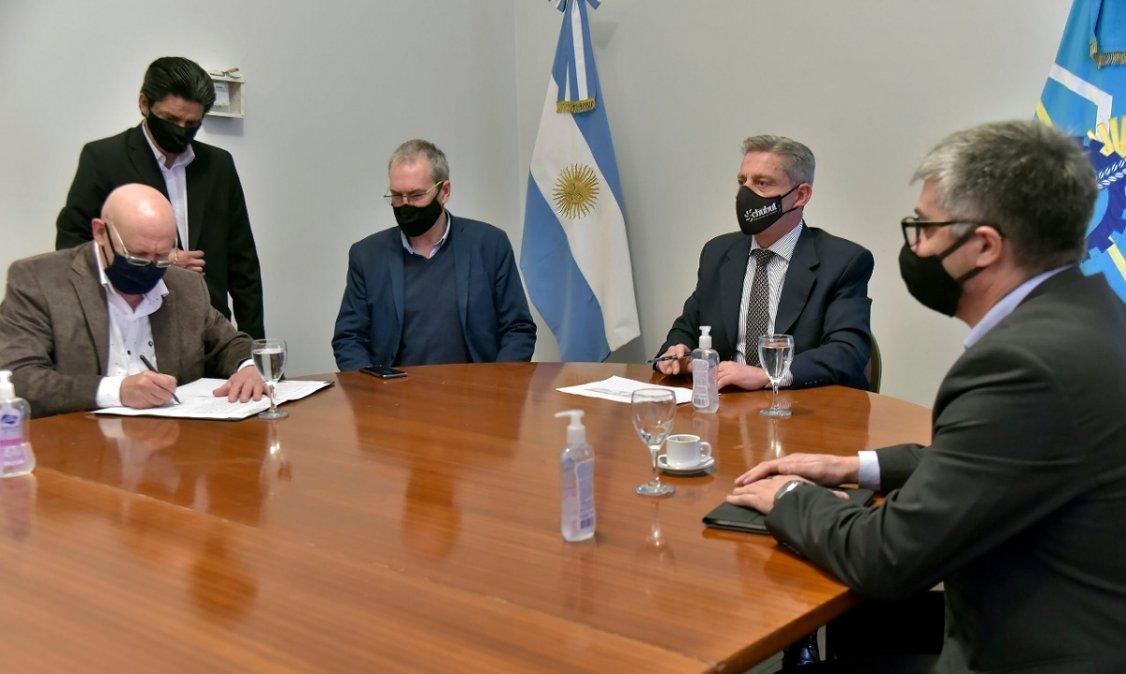 Mariano Arcioni en Casa de Gobierno.