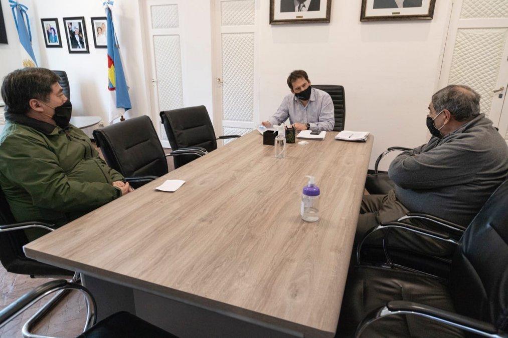 El intendente Luque recibió al Presidente de los Bomberos Voluntarios