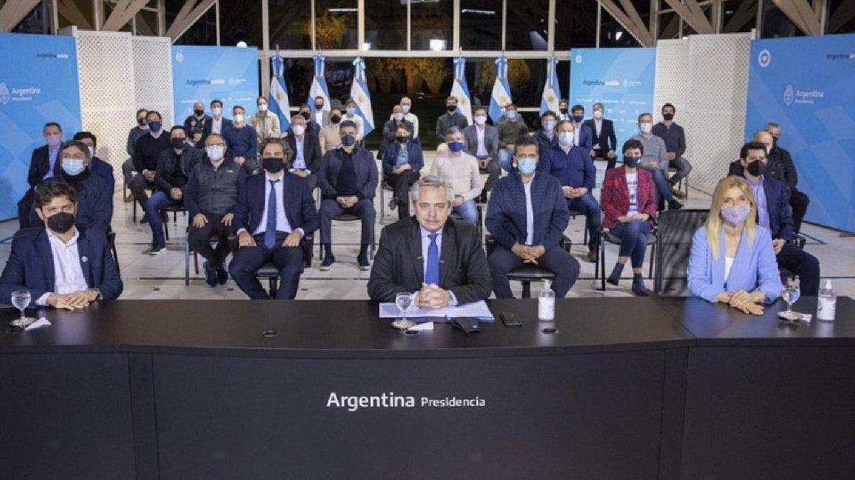 El presidente anunció que le aportará un punto más de coparticipación a la provincia de Buenos Aires.