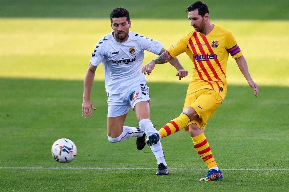 Messi jugó los primeros 45 minutos del partido.