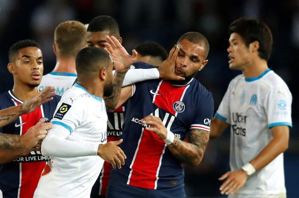 El partido entre el Marsella y el PSG terminó con cinco futbolistas expulsados