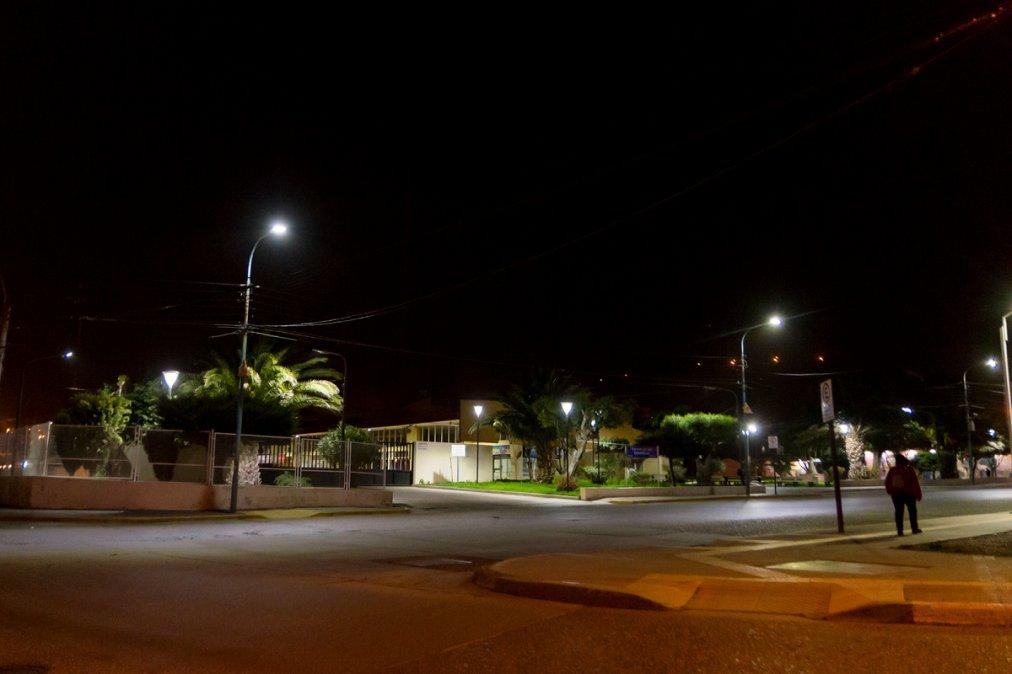 La SCPL realizó el recambio de la luminaria de la Terminal.