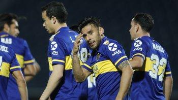 Boca le ganó a Libertad en Paraguay y es líder en su grupo