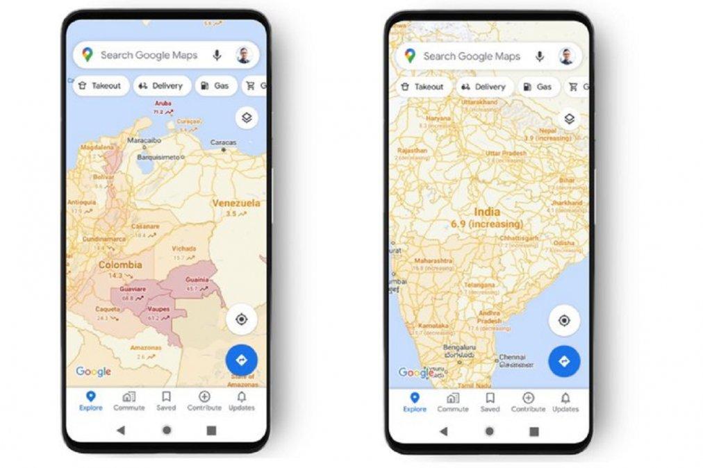 Google Maps informará sobre las zonas con más casos de Covid-19.