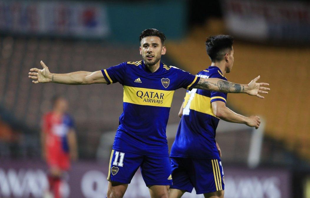 Salvio convirtió cinco goles en las cuatro fechas de la copa.