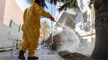 El Municipio aumenta las tareas de desinfección en distintos puntos de la ciudad