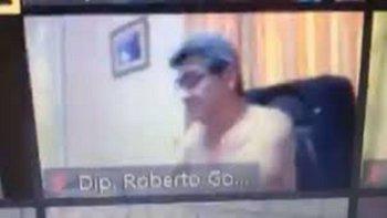 Un diputado de Paraguay sesionó desnudo: