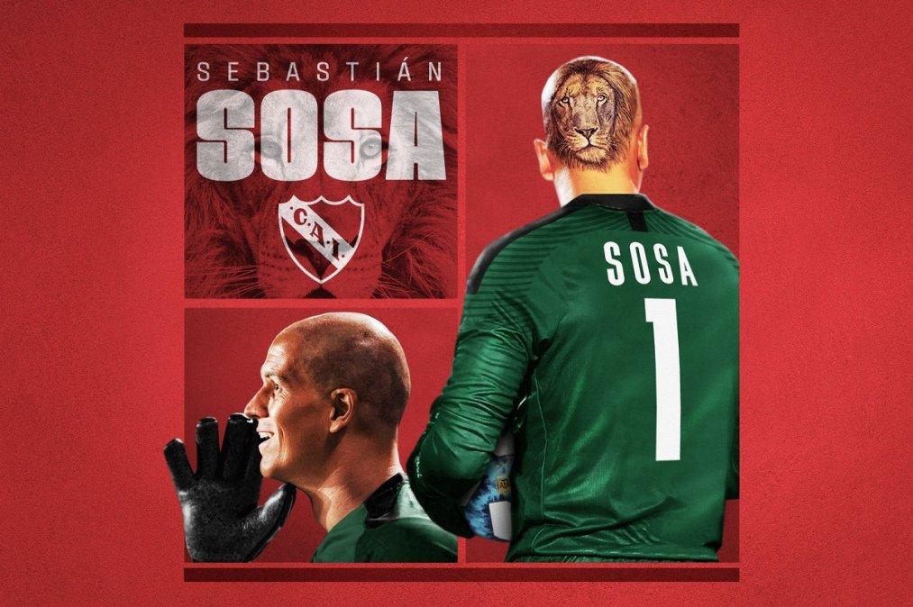Sebastián Sosa fue presentado en Independiente