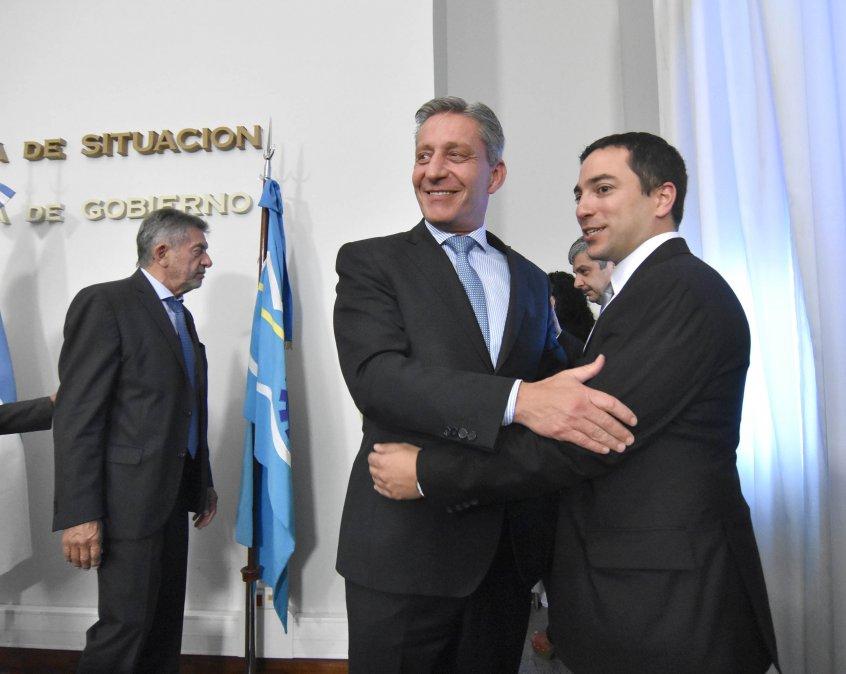 El gobernador Arcioni y el Fiscal de Estado
