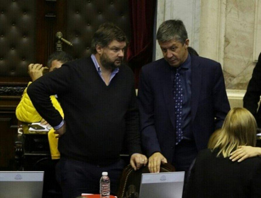 Los diputados Santiago Igon y Gustavo Menna.