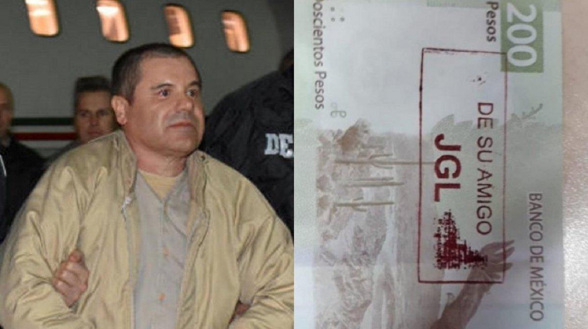 El Chapo Guzmán y los polémicos billetes.