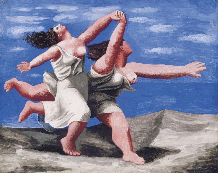 Dos Mujeres Corriendo en la Playa - Picasso (1922).