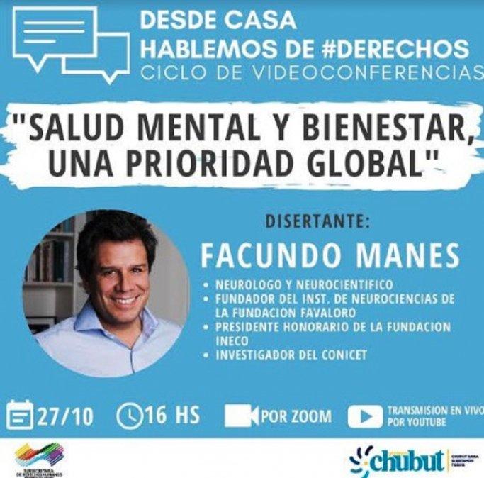 Encuentro virtual con el reconocido neurólogo Facundo Manes.