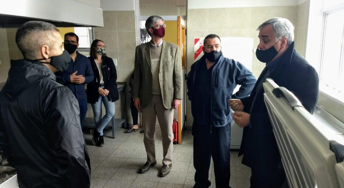 El intendente Sergio Ongarato recorrió las instalaciones.