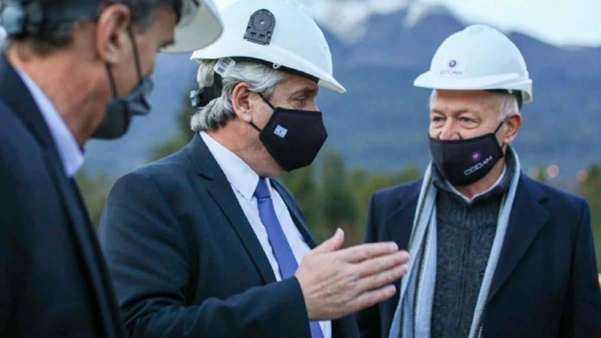 El presidente en una de sus visitas a Neuquén.