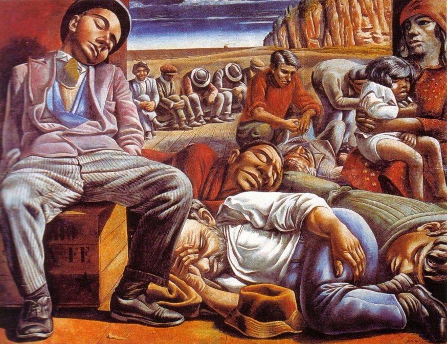 Desocupados (1934) - Antonio Berni.