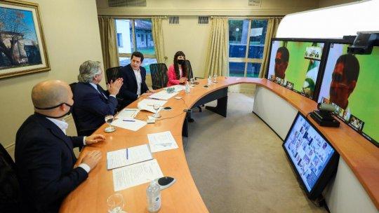 El presidente Alberto Fernández lanzó este lunes el programa Municipios de Pie, en el que Comodoro Rivadavia está incluído.