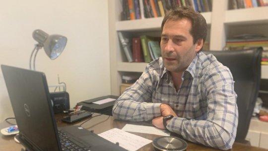 Luque en videoconferencia con Alberto Fernández y el Banco Credicoop