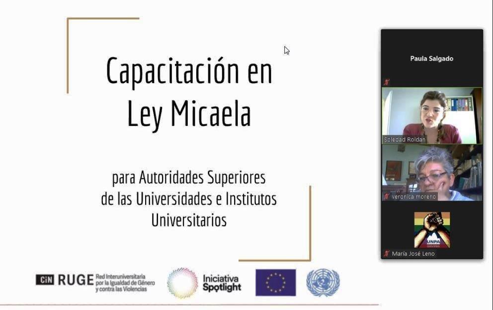 Primera Universidad Patagónica en capacitar en el marco de la Ley Micaela