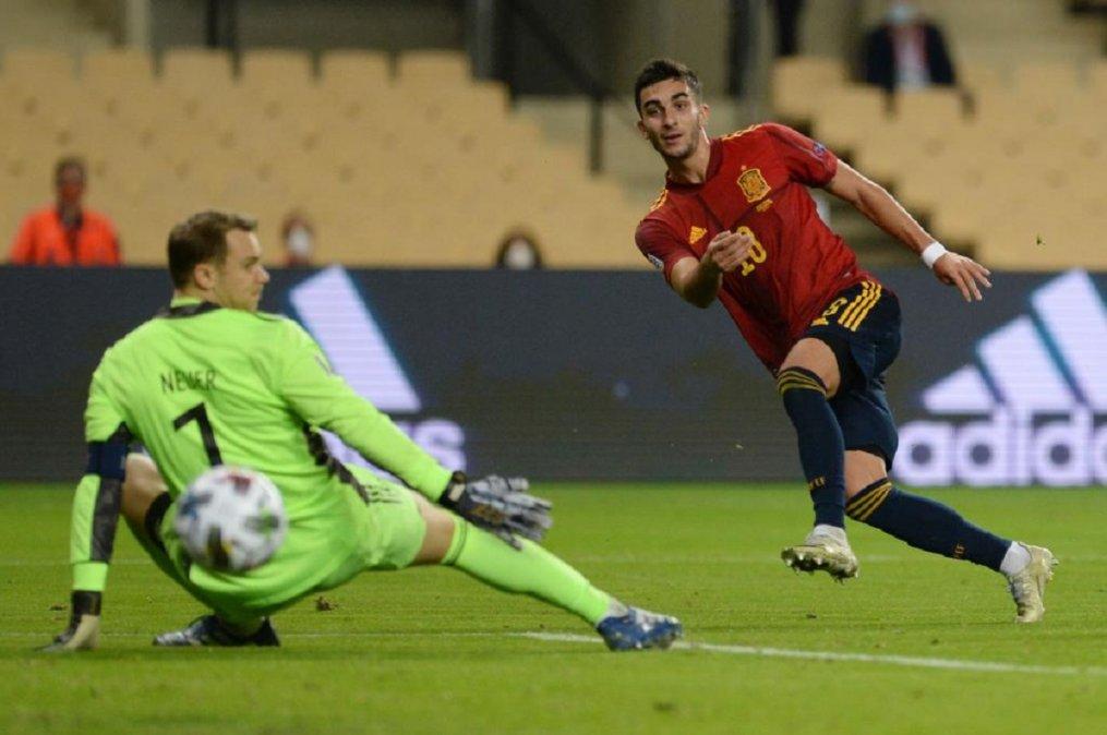 España le hizo seis a Alemania y lo dejó afuera de la Nations League