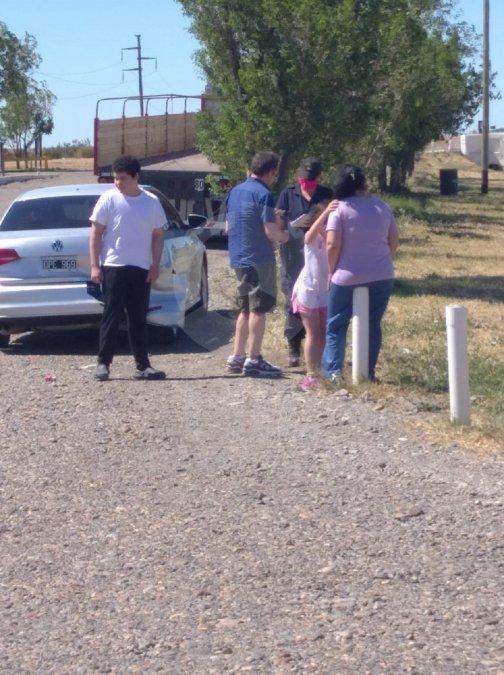 La pareja choco a cercanias de una estación ACA.