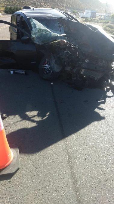Dos de los accidentados fueron trasladados al hosptal.