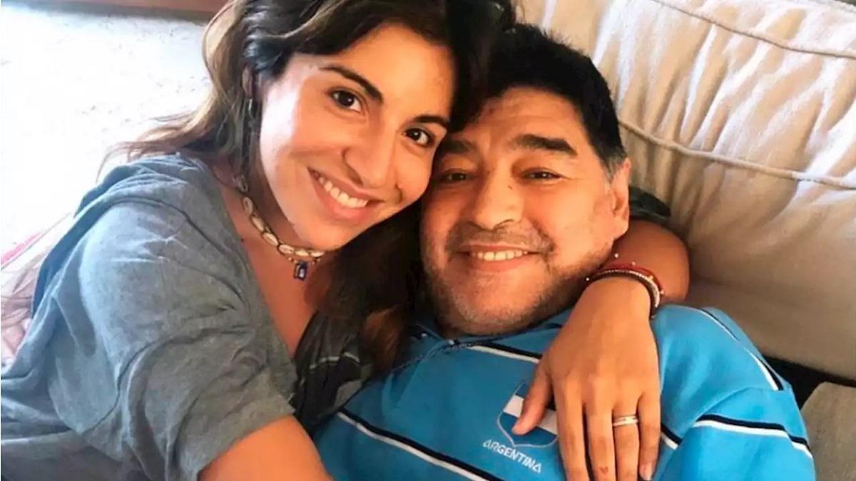La foto que subió Gianinna Maradona minutos antes de la muerte de Diego