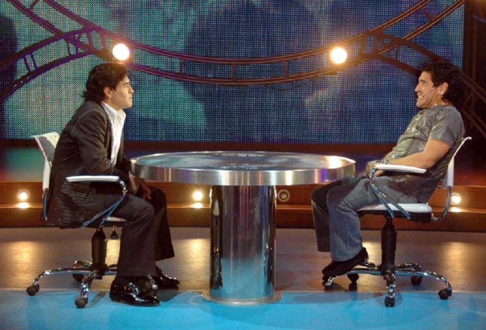 La noche que Maradona entrevistó a Maradona