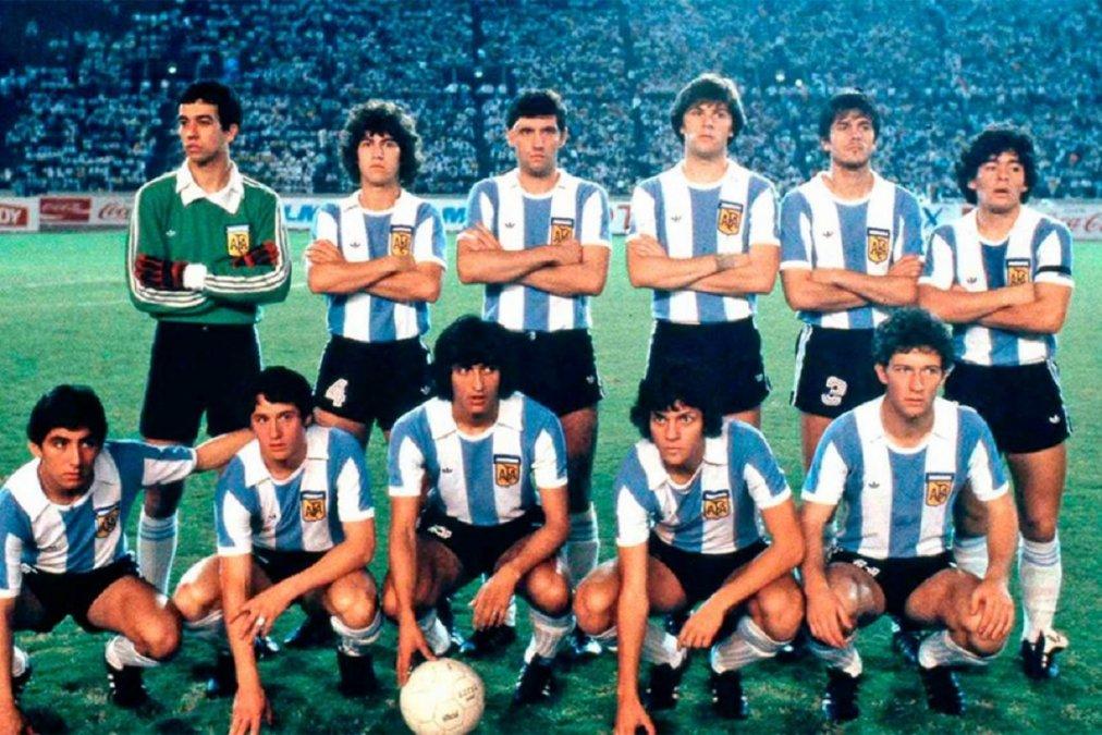 El emblemático Seleccionado Juvenil Sub 20 que logró el campeonato mundial de 1979 en Japón.