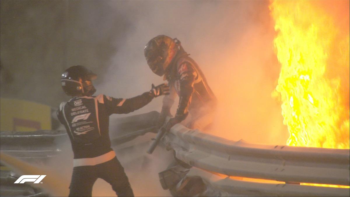 Grosjean se escapa del fuego.