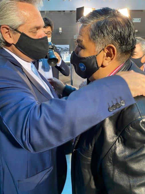 Jorge Ávila junto a Alberto Fernández.