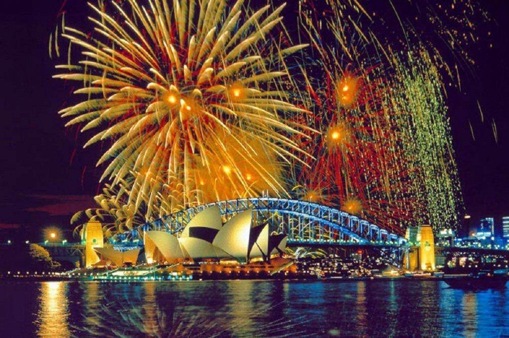 La llegada del Año Nuevo estuvo signada por la presencia del COVID y los confinamientos en todo el mundo. En Australia hubo espectáculo