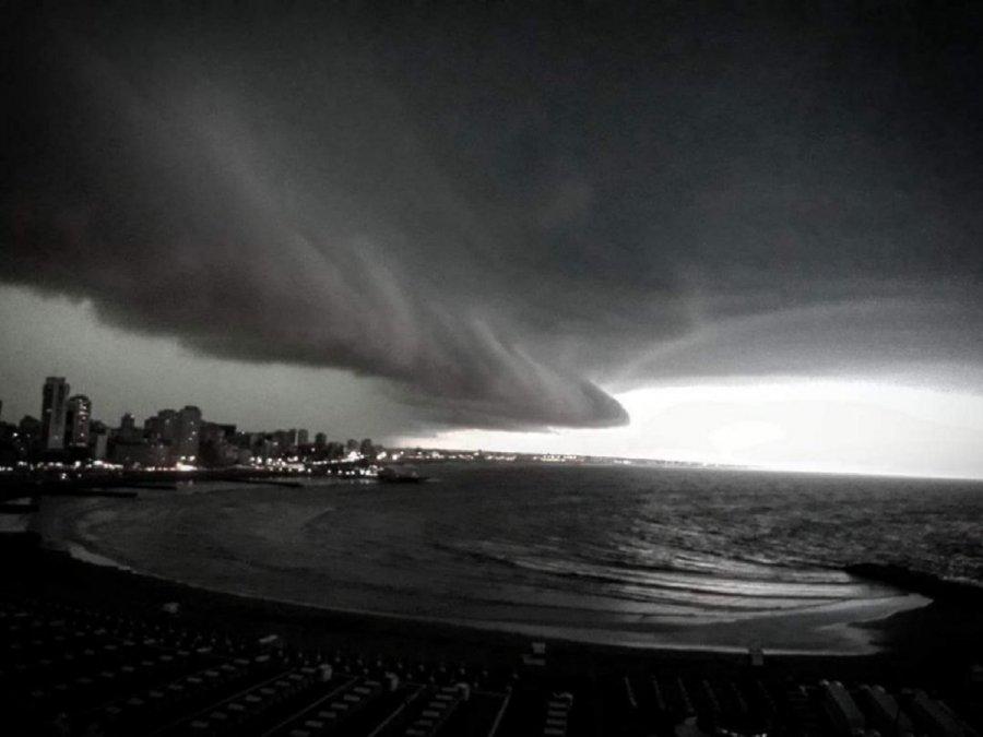 Mar del Plata fue una de las ciudades afectadas por el temporal en la Costa Atlántica.
