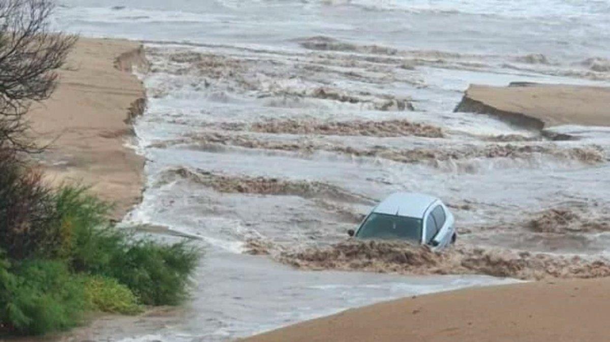 Villa Gesell fue una de las zonas más afectadas por el temporal.