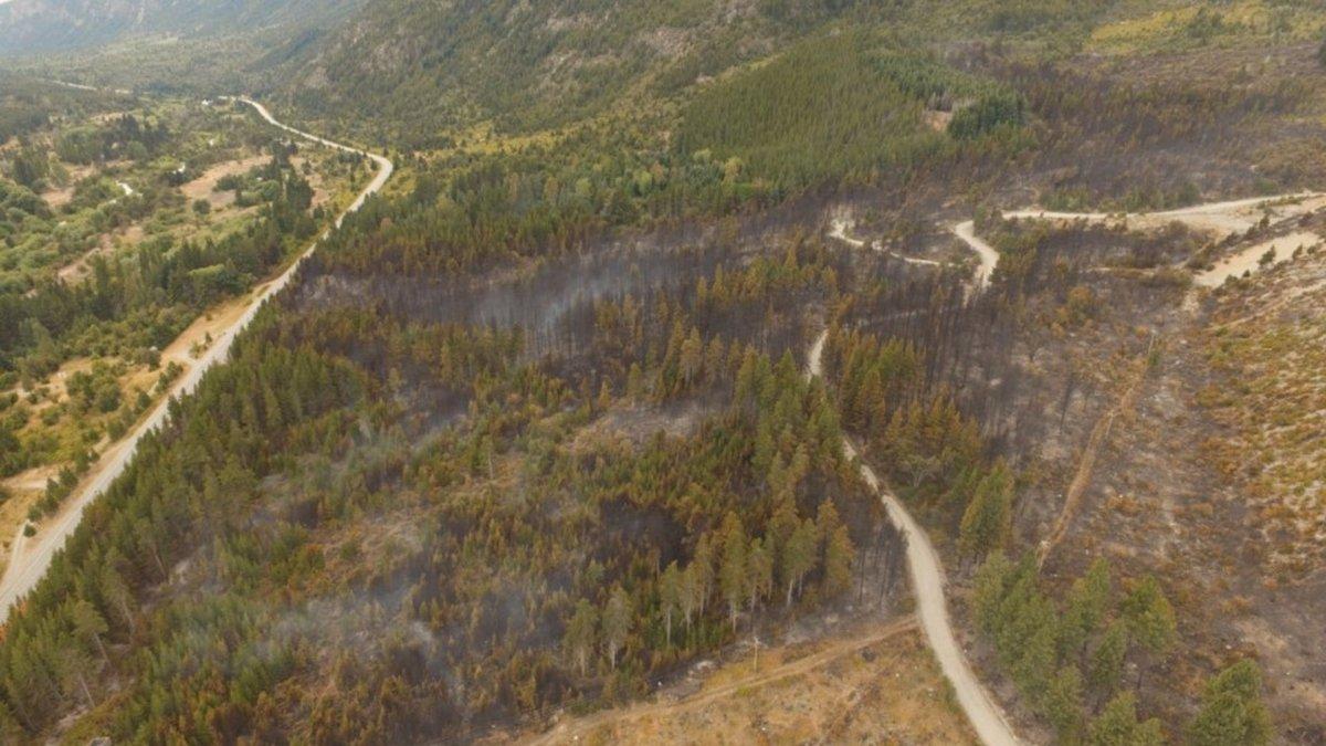 Contienen un incendio al norte de El Bolsón que afectó 75 hectáreas
