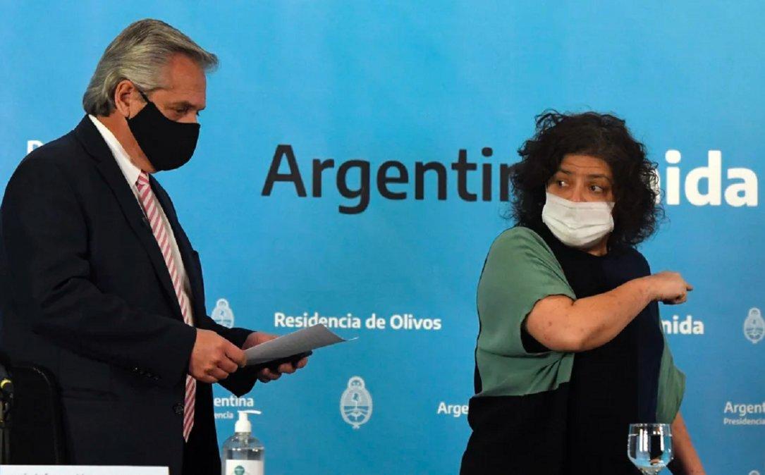 Alberto Fernández dijoque Vizzotti cometió un error al sugerir un programa de vacunación intensivo con la Sputnik V.