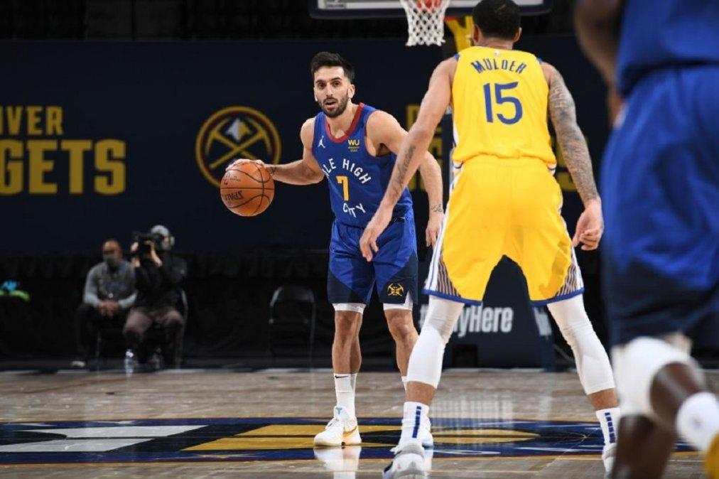 NBA: Denver Nuggets derrotó a Golden State Warriors con aporte de Facundo Campazzo