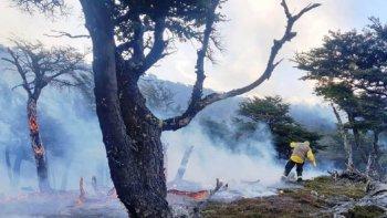 Un incendio forestal afecta al Parque Nacional Los Glaciares