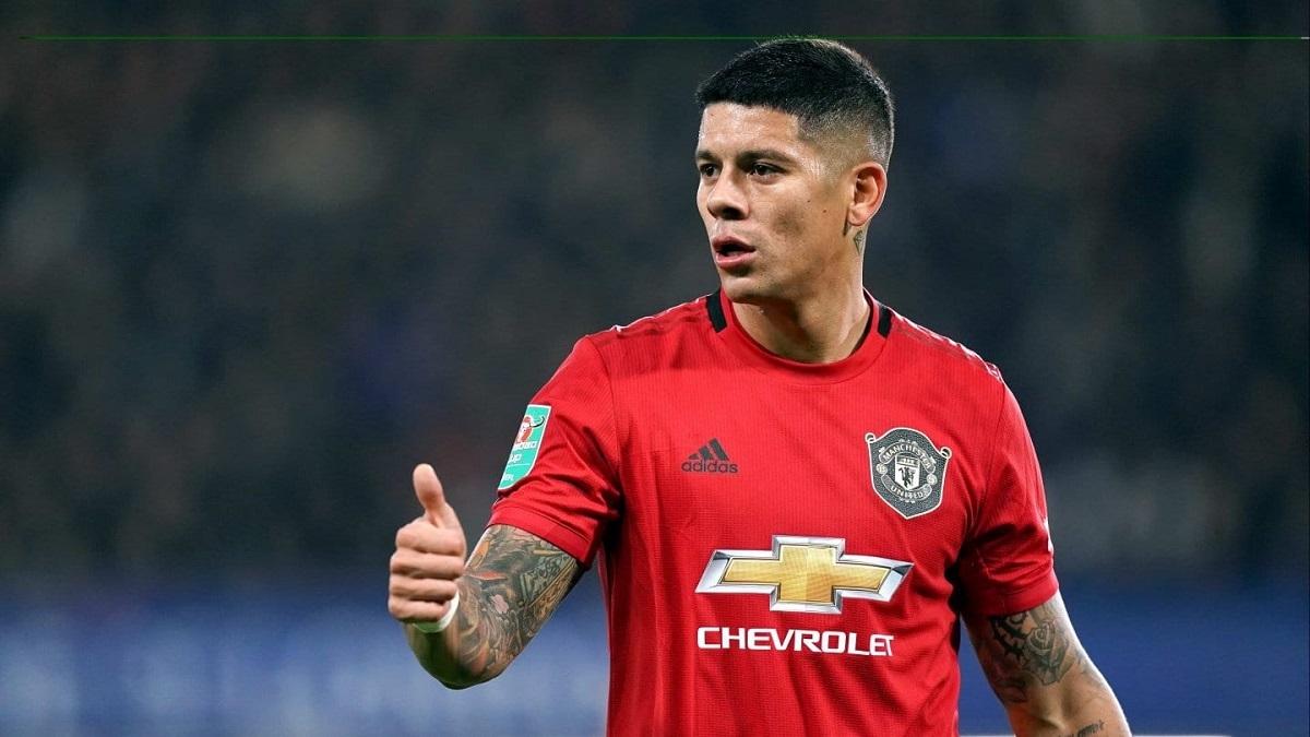Marcos Rojo tiene contrato en el United hasta junio del 2021.