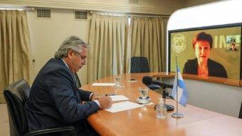 Alberto Fernández y la titular del FMI dialogaron sobre la renegociación de la deuda