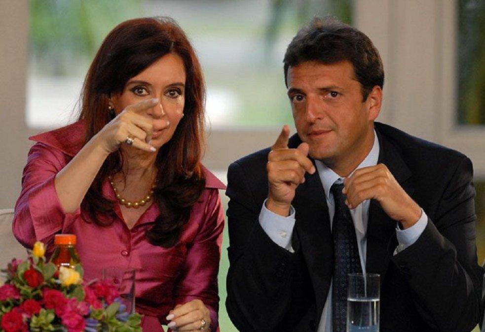 La vicepresidenta Cristina Kirchner y el presidente de la Cámara de Diputados