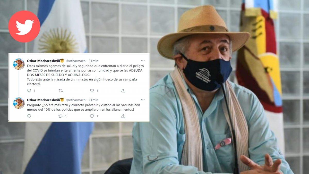 El viceintendente apuntó contra la Policía del Chubut.