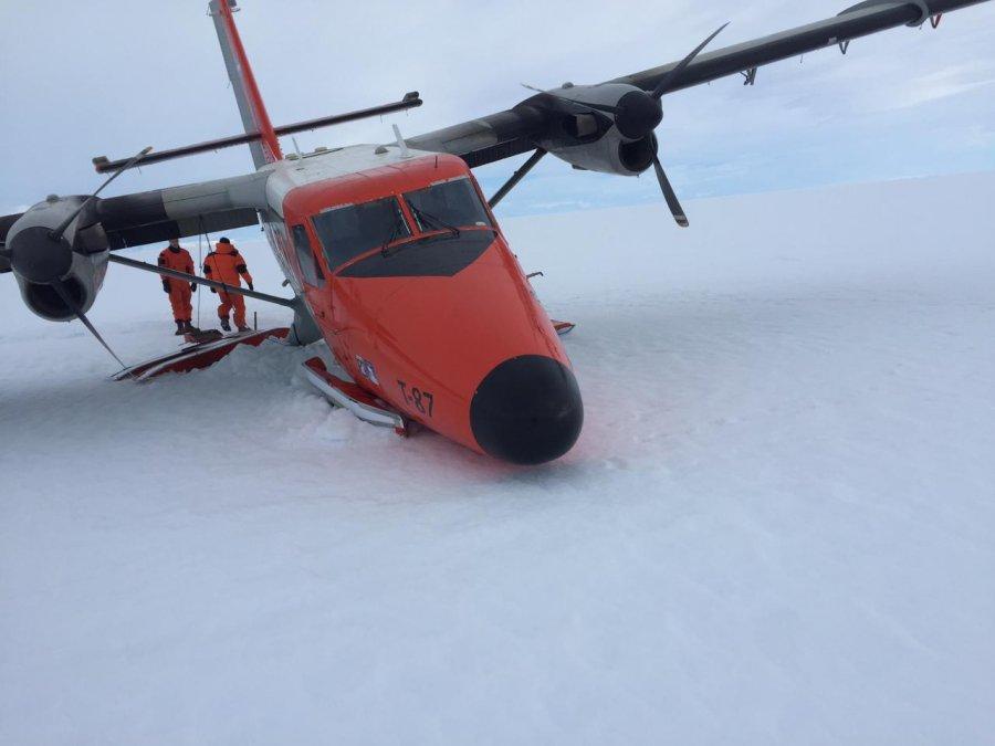 Un avión de la Fuerza Aérea protagonizó un accidente en la Antártida