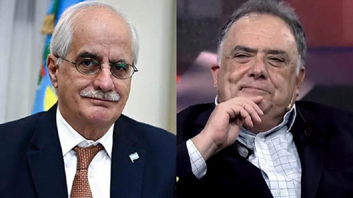 El senador Jorge Taiana y el diputado Eduardo Valdés