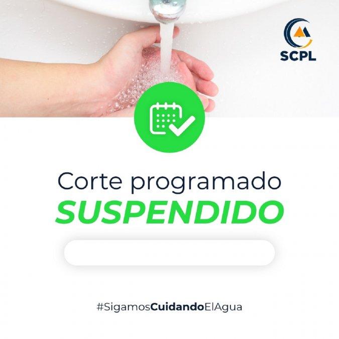 La SCPL suspendió el corte de agua programado para este domingo