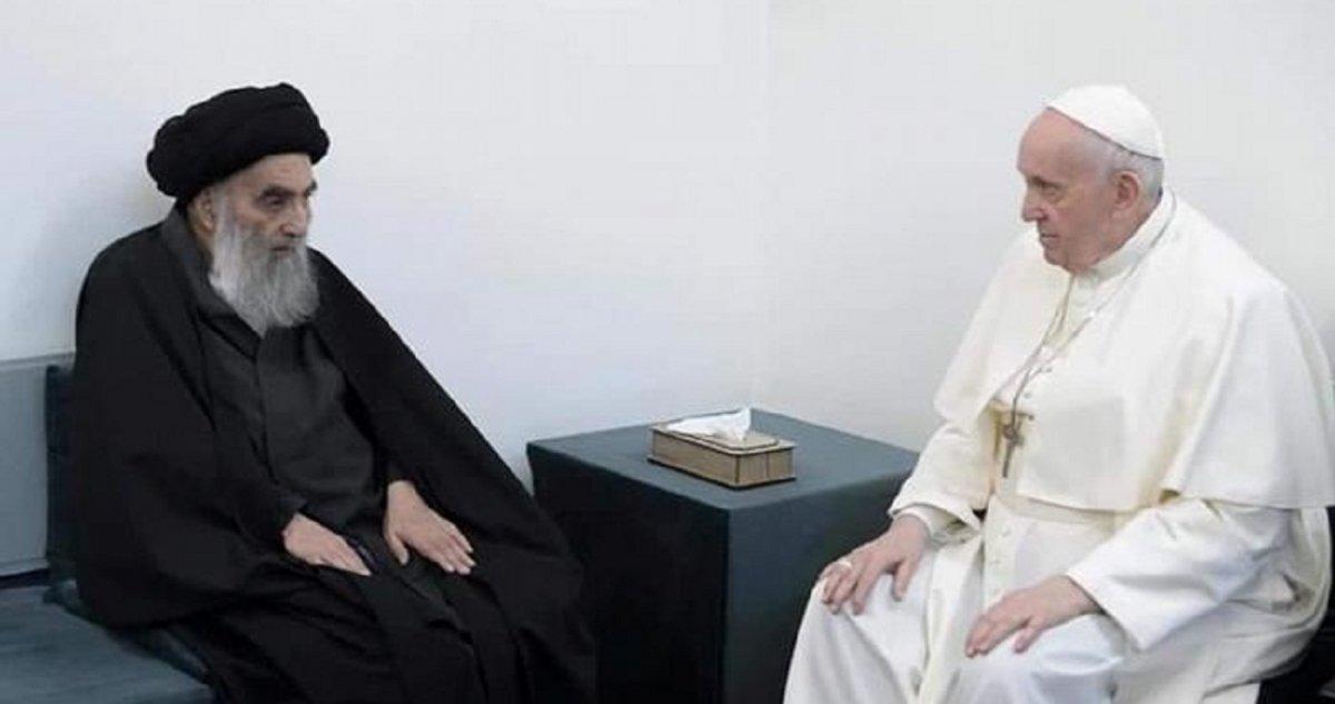 El Papa Francisco y el Ayatola Ali al Sistani.