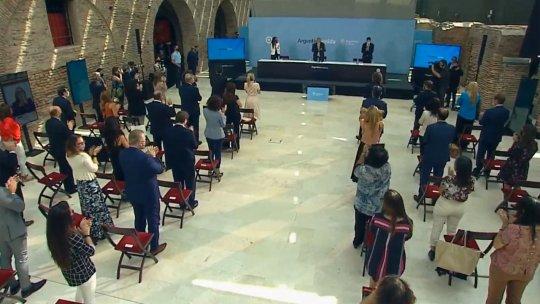 El Presidente encabezó el acto por el Día Internacional de la Mujer en el Museo del Bicentenario de la Casa Rosada.